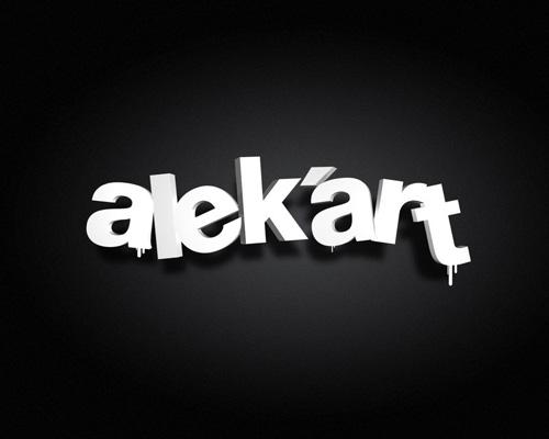 typo:3D by ~alekart