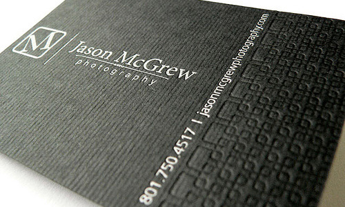 Business card of Jason McGrew