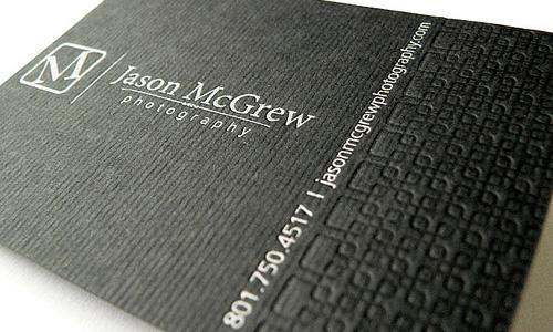 Business card of Jason McGrew
