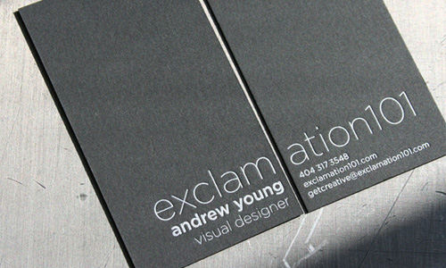 Exclamation 101 business card