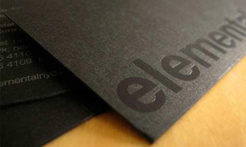 Tom Mayes Design Business Card Elemental Architecture