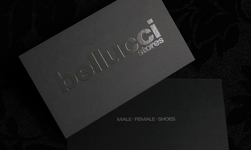 Bellucci Stores business cards