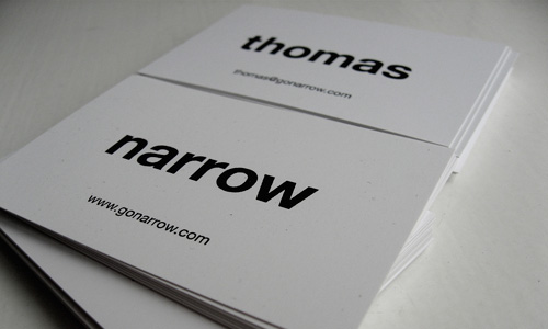 Narrow Business Cards