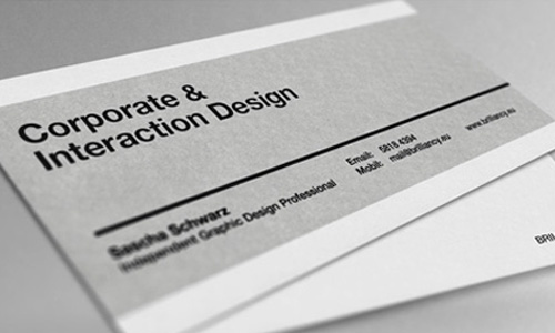 40 simple and elegant business card designs designrfix alexandr schwarz brilliancy reheart Choice Image