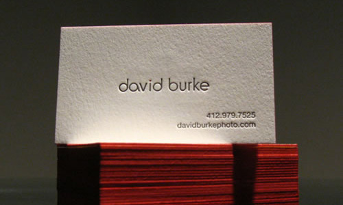 40 simple and elegant business card designs designrfix business card of david burke reheart Images