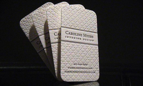 Business card of Caroline Myers