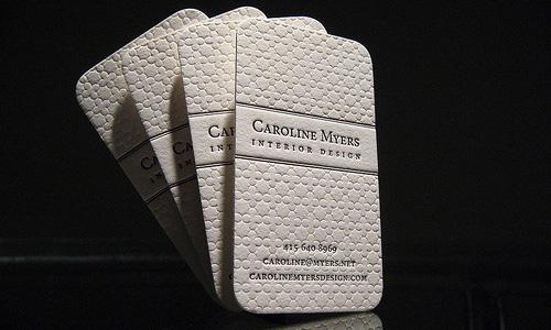 Business card of Caroline Myers
