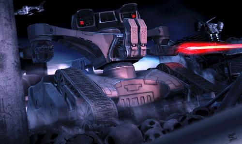 Terminator 2 - HK Tank - 3d Artist: Simon Joyce