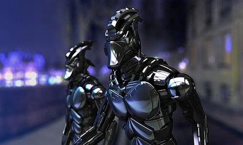 Blue Robot - 3d Artist: Reda Bahou