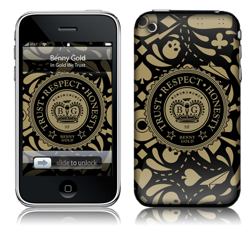 In Gold we Trust - Skin for your iPhone 3G - Created by Benny Gold