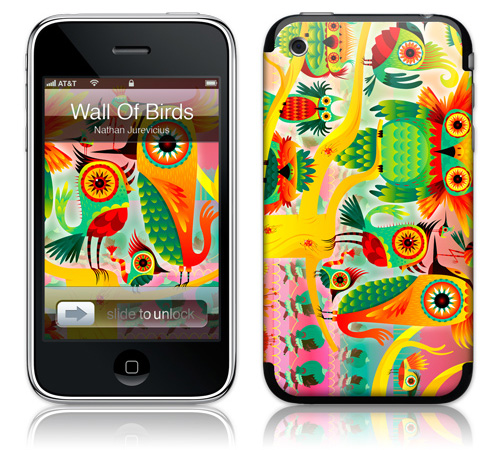 Wall Of Birds - Skin for your iPhone 3G - Created by Nathan Jurevicius