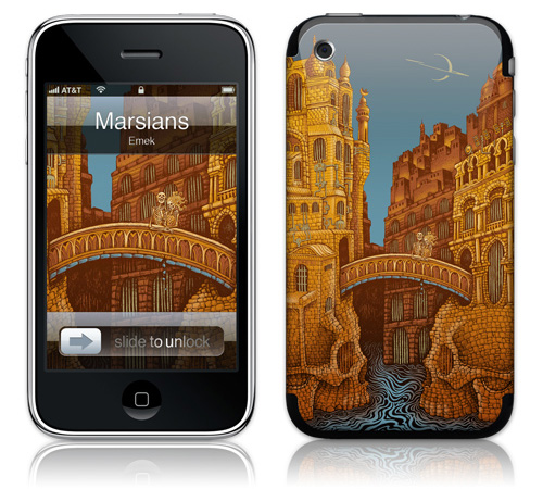 Marsians - Skin for your iPhone 3G - Created by EMEK