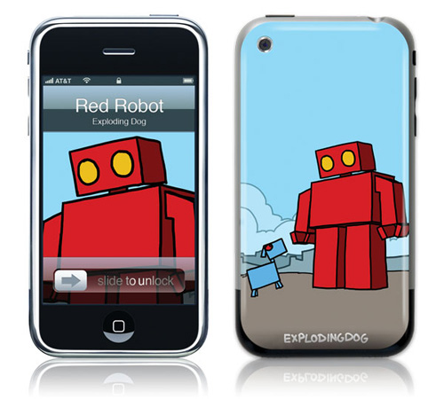 Red Robot - Skin for your iPhone 3G - Created by EXPLODINGDOG