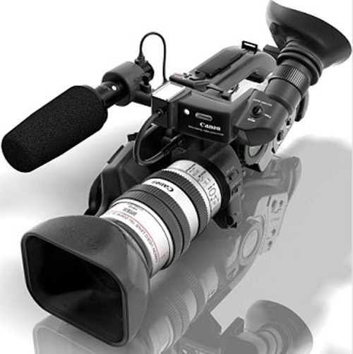 3d model of Canon XL-1s miniDV camcorder