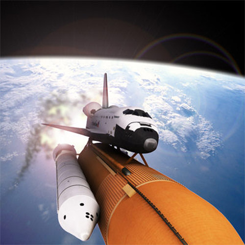 This is a high definition 3d model of the Space Shuttle with textures