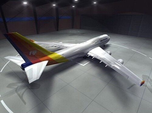 This is a high definition 3D model of the 747-400 Airliner, textured as Air Pacific