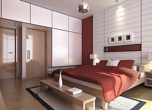 Highly detailed 3d model of a Bedroom