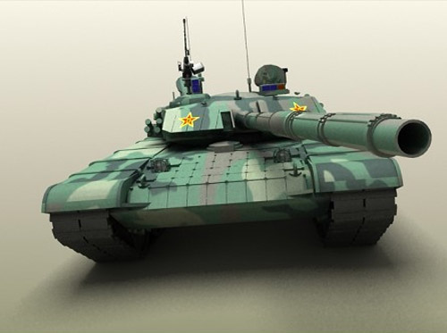 High-poly model of Chinese Type 99 Main battle tank