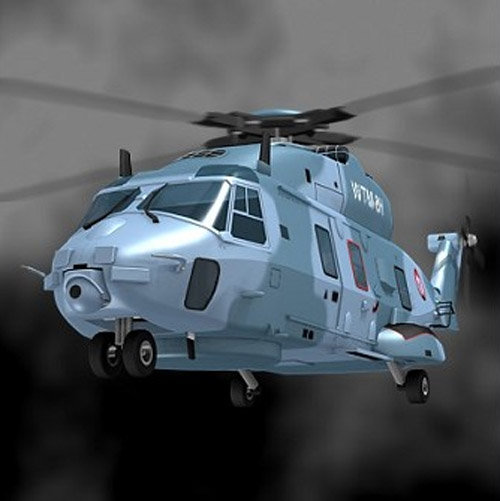 3d model of a NATO Frigate Helicopter NH90