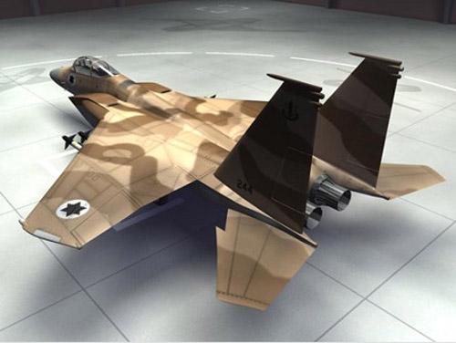3d model of an Israeli F-15C Strike Eagle