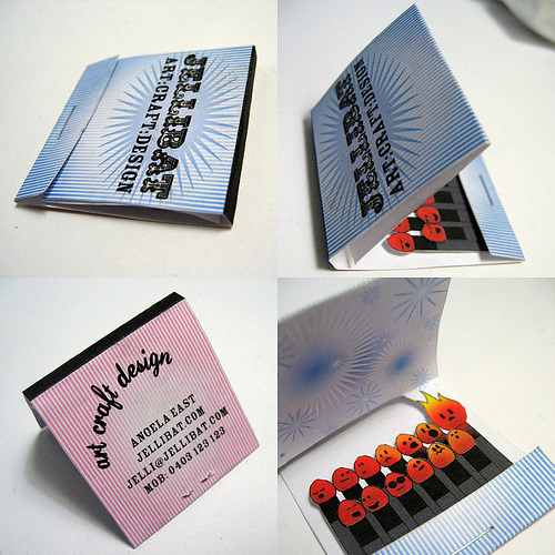 Creative business cards uses of various shapes and materials creative matchbook business card colourmoves