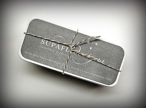 SupaFly.Designs Letterpress Business Cards