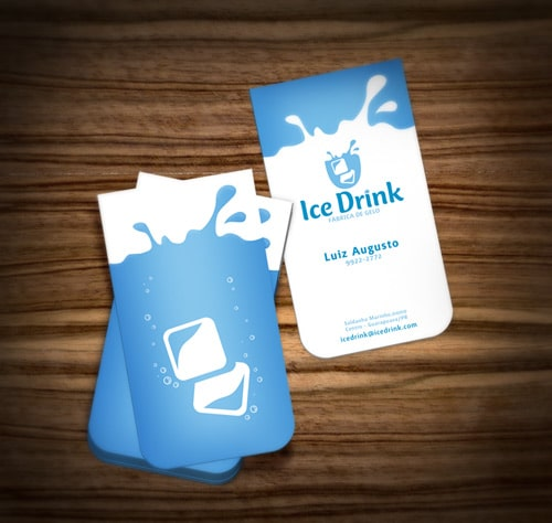 Ice Drink - Business Card by ~muriloVM