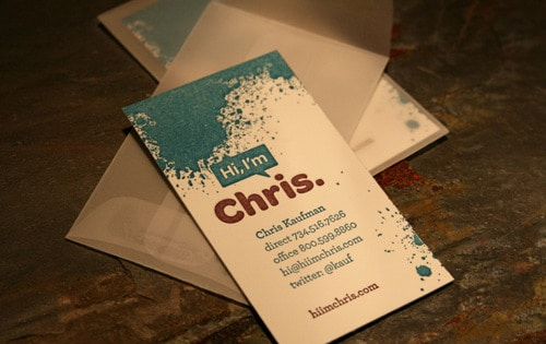 Chris Kaufman Biz Card