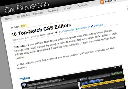 10 Top-Notch CSS Editors