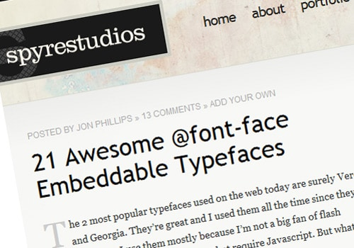 21 Awesome @font-face Embeddable Typefaces
