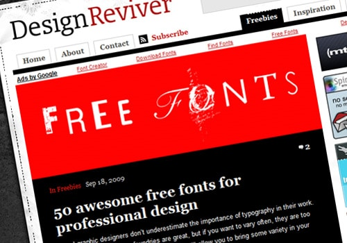 50 awesome free fonts for professional design