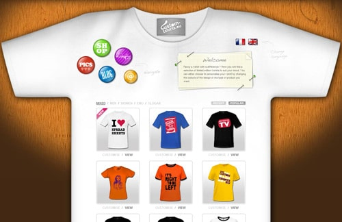 Website design some of the most uniquely designed e for Website where you can design your own shirt