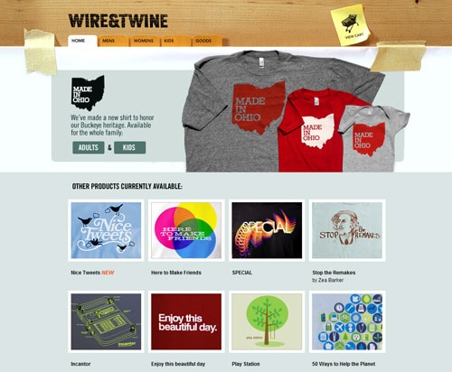 Website design some of the most uniquely designed e for T shirt ecommerce website