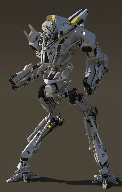 Mantibot-My entry for a robot design competition, Linghan Bai (3D)