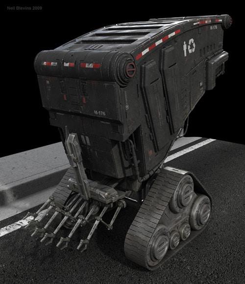 Mortuary Robot, Neil Blevins (3D)