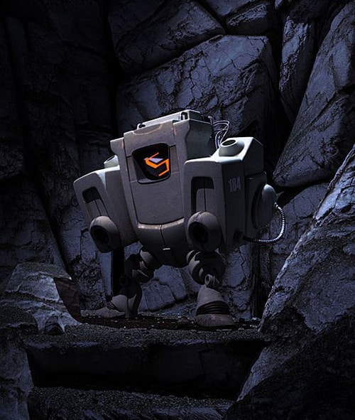 Swervebot Cave Scene, Marc Andreoli, Superscape Inc. (3D)
