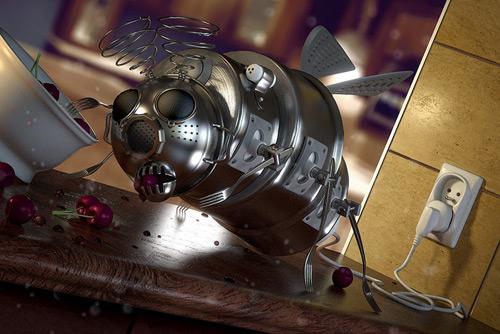 Kitchen robot, Artur Szygulski (3D)