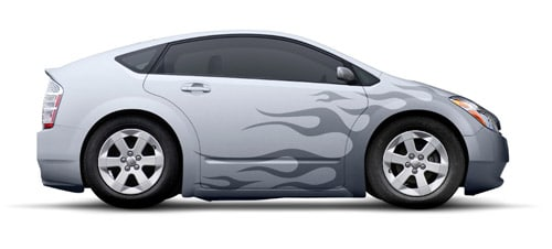 How to Add Flaming Decals to a Modern Car Design