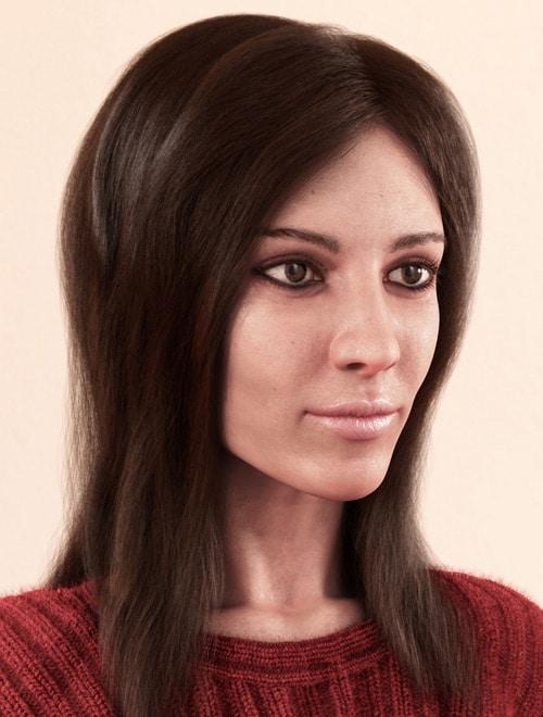 Portrait of a woman, Yury Rybakov (3D)