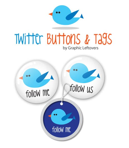 Free Twitter Buttons & Tags