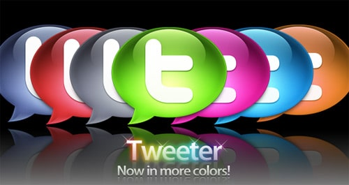 Colorful Twitter Icons