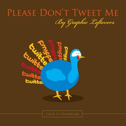 Please Don't Tweet Me! Free Thanksgiving Turkey Twitter Icons