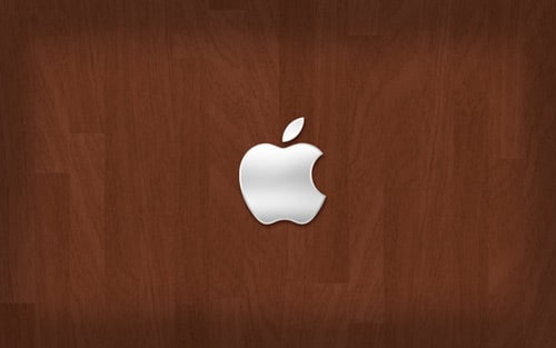 ipad wallpaper wood. Apple on Wood by Igelkotten