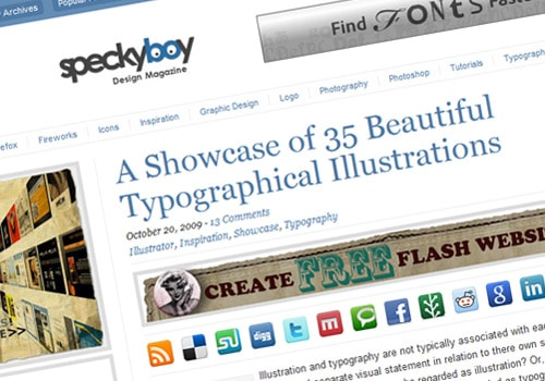 A Showcase of 35 Beautiful Typographical Illustrations