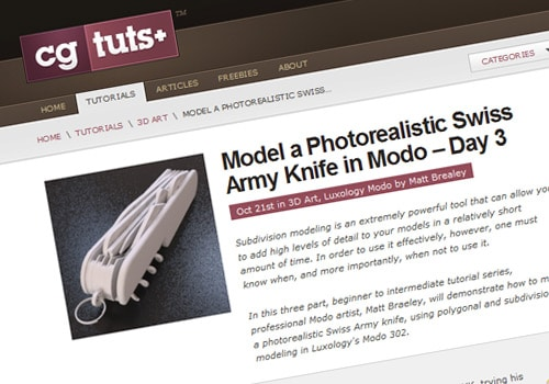 Model a Photorealistic Swiss Army Knife in Modo – Day 3