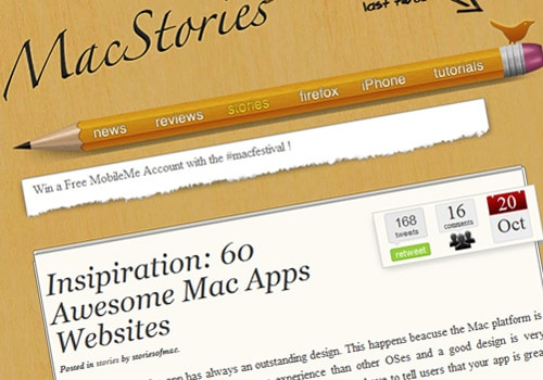 Insipiration: 60 Awesome Mac Apps Websites