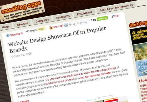 Website Design Showcase Of 21 Popular Brands