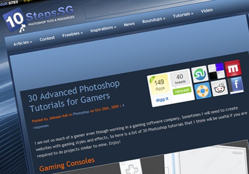 30 Advanced Photoshop Tutorials for Gamers
