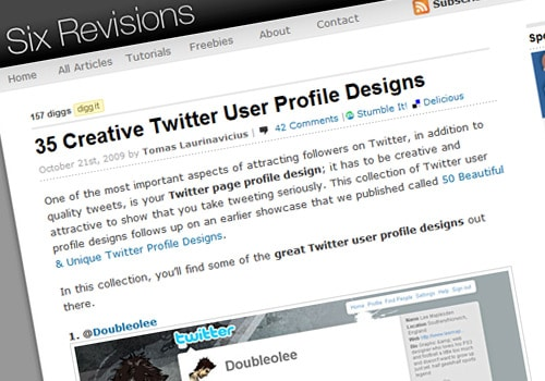 35 Creative Twitter User Profile Designs