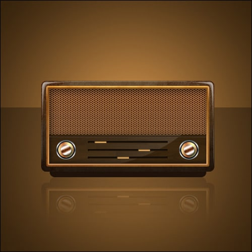 Design a Vintage Radio Icon in Photoshop